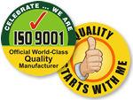 ISO & QA Celebration Hard Hat Stickers