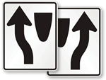 Keep Left, Keep Right Signs