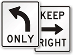 Left and Right Turn Signs