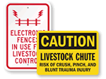 Livestock Warning Signs