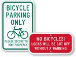 Lock Bike Signs