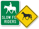 More Horse Crossing Signs