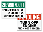 More Turn Off Your Engine Signs