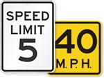 MUTCD Speed Limit signs