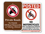 No ATV's, No Motorcycles