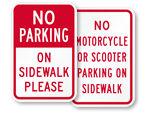 No Biking No Skateboarding on Sidewalk Signs