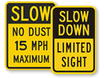 No Dust Road Signs and Dust Control Signs