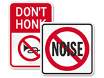 No Honking Signs