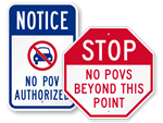 No POV Signs