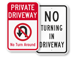 No Turn Around Signs