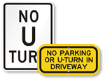 No Turns & Prohibition Signs
