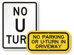 No U-Turn Signs