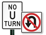 No U-Turn Signs