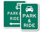 Park And Ride Signs