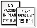 Plant Speed Limit Signs
