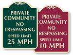 Private Community Speed Limit
