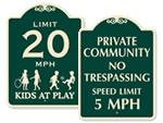 Designer Private Community Signs