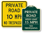 Private Road Speed Limit