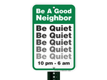 Quiet Community Signs