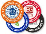 Safety Orientation Stickers
