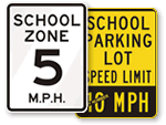 School Speed Limit Signs