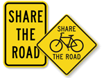 Share the Road Bike Signs