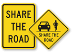 Share the Road Signs