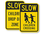 Slow Children Signs