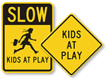 Slow Kids at Play Signs