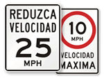 Spanish Speed Limit Signs