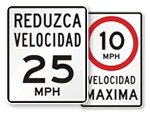 Spanish Speed Limit Signs