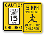 Speed Limit Signs for Child Friendly Communities