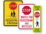 Stop Pedestrian Signs