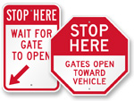 STOP Gate Signs