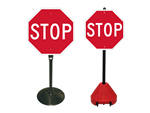 Stop Signs on a Stand