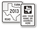 Texax Road Signs