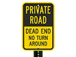 Traditional Private Road Signs