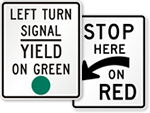 Traffic Signal Signs