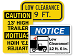 Truck Clearance Signs