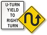 U-Turn Signs