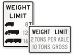 Weight Limit Signs