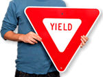 Traffic Yield Signs