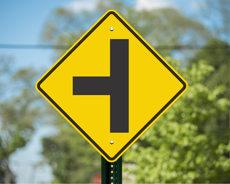 Intersection Road Traffic Signs