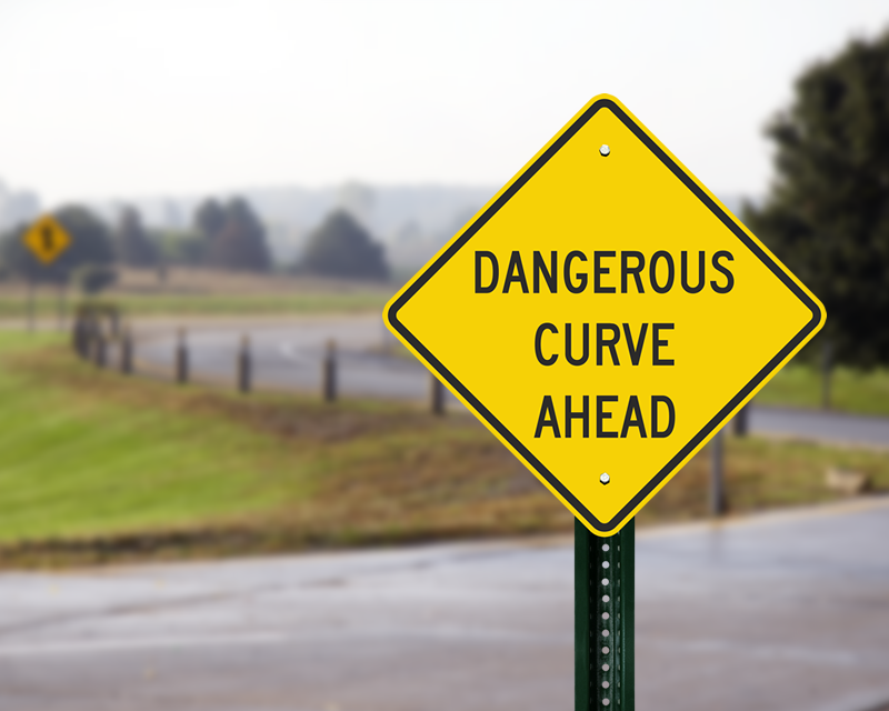 curvy road signs curve warning signs