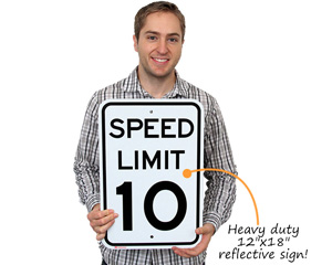 12x18 inch Reflective Speed Limit Signs