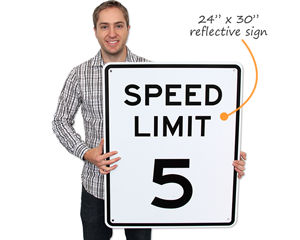 24x30 inch Reflective Speed Limit Signs