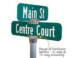 4 way street sign