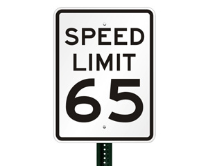 55 Speed Limit Signs