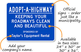 Adopt-a-Highway Signs