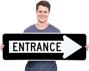Arrow Entrance Sign